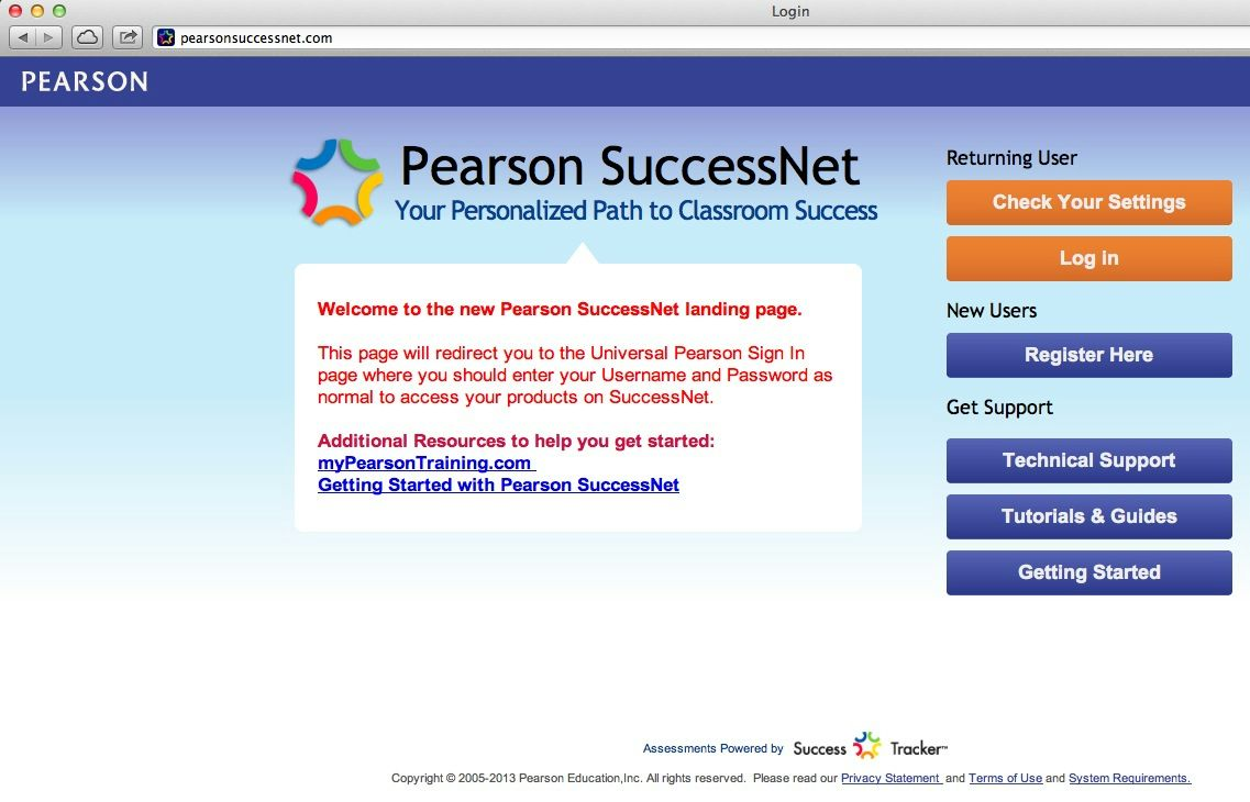 pearson success net  icon & link